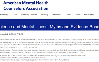 Bursting the Gun Violence /Mental Illness Myth: What the Evidence Shows