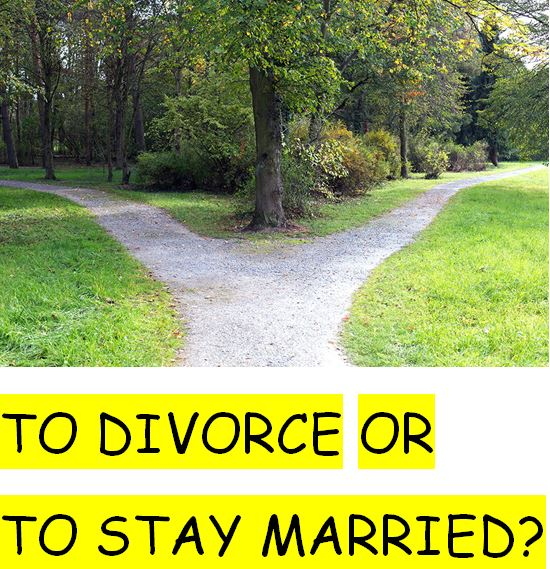 Marriage Counseling for couples who are confused about whether to divorce or not.