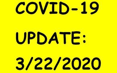 COVID -19 UPDATE : 3/23/2020